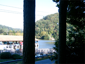 View of Lake Lure from porch